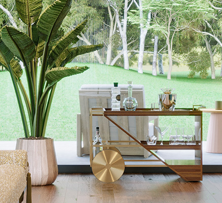 3 Ideas of Vintage Bar Cart for a Luxury Decoration